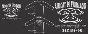 Airboat In Everglades black shirt