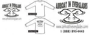 Airboat In Everglades White Shirt