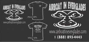 Airboat In Everglades black short sleeve shirt