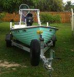 Everglades shallow flats boat