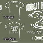 Airboat In Everglades green short sleeve