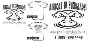 Airboat In Everglades white short sleeve shirt
