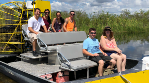 Airboat tour riders