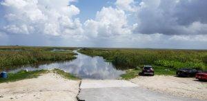 Airboat In Everglades - Miami